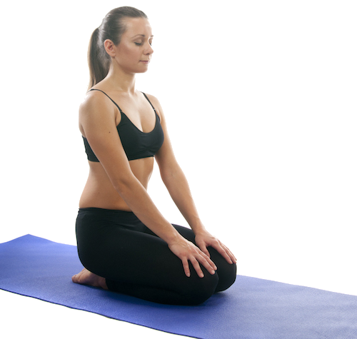 female doing yoga for pelvic pain