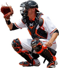 baseball catcher - male sports hernia groin pain