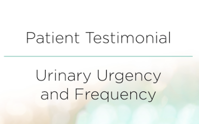 Urinary Urgency and Frequency Patient Testimonial